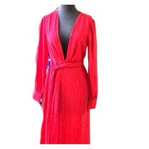Red full length dress by Forever 21. Size M. NWT